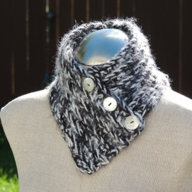 This extraordinarily soft neckwarmer can be found in the Tincture Craft Etsy shop: https://www.etsy.com/listing/164887183/silky-soft-crochet-neck-warmer-scarf